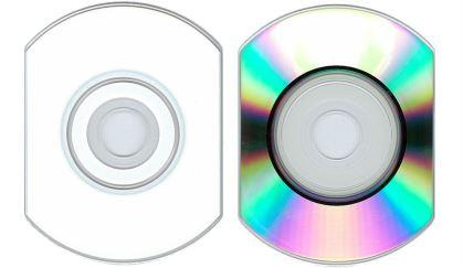 Лицевая и обратная сторона визитки прямоугольной формы с округленными углами