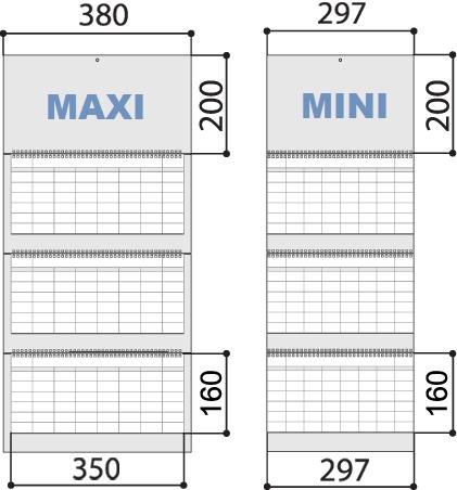 Размеры квартального календаря