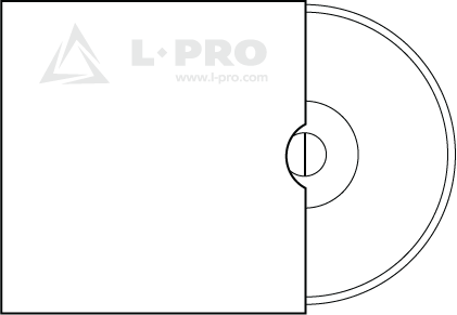 Картонный конверт без клапана