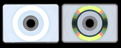 Лицевая и обратная сторона визитки прямоугольной формы
